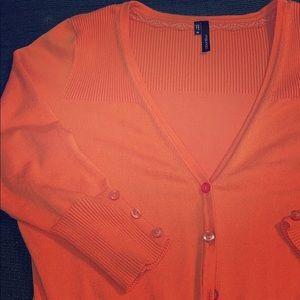 Maurice's Orange Cardigan Sweater
